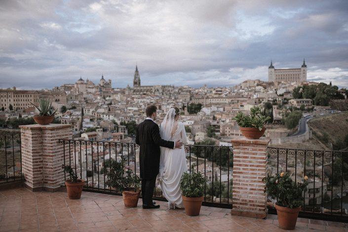 fotografia de boda pareja de novios en toledo