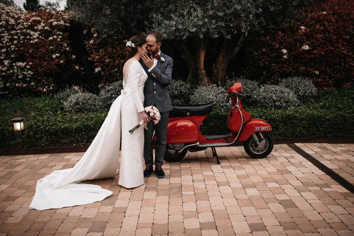 fotografia pareja de novios boda