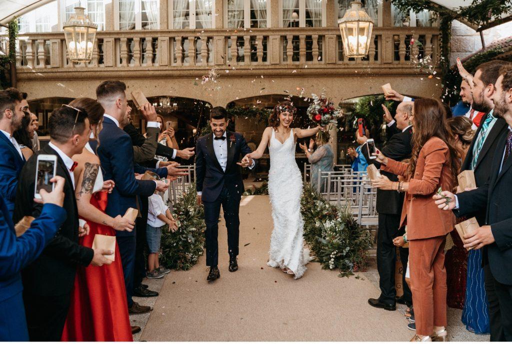 Boda en Pazo Señorans en Galicia fotógrafos y videógrafos de bodas en Toledo para toda España